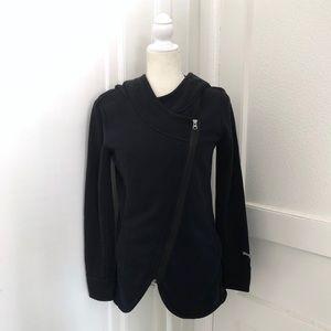 Puma Asymmetrical Zip Hoodie in Black